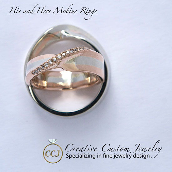 Mobius ring rose gold