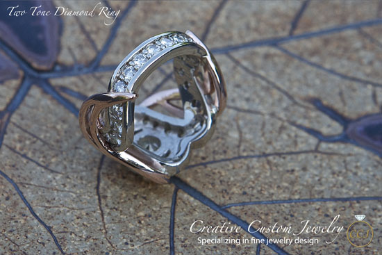 Two Tone Rose Gold Ring