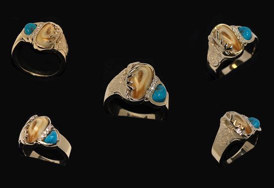 Custom Elks Tooth Ring