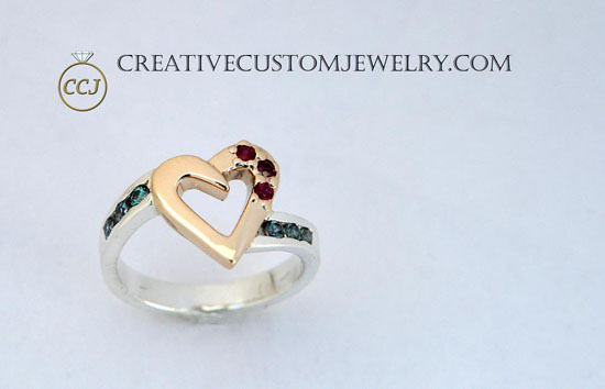 Two tone hear ring