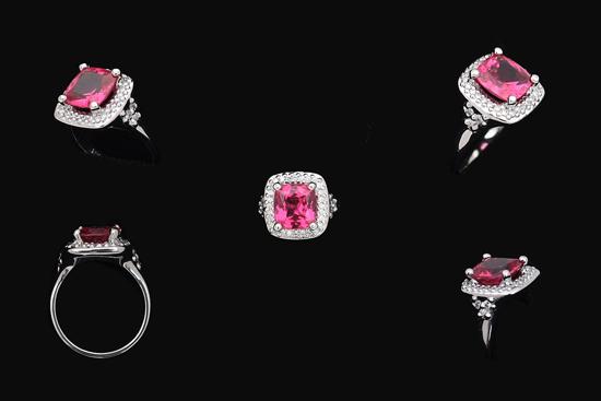 Custom Pink Spinel Ring